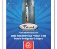 Product of the Year Winner Whirlpool Tent Card