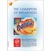 Product of the Year Global food & drinks winner Global Oatbix