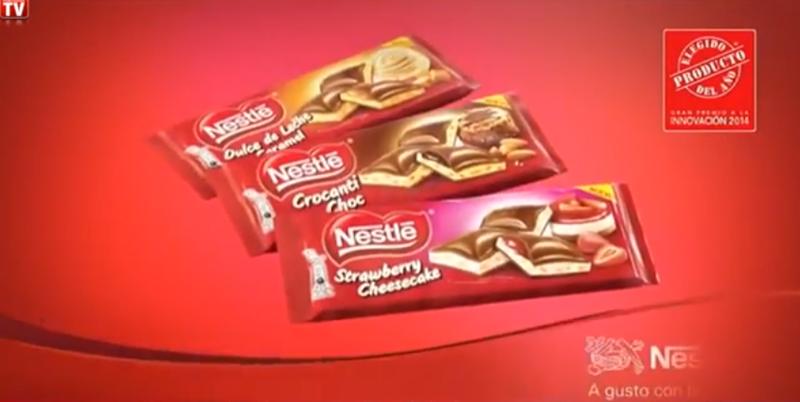Tabletas rellenas de Nestle