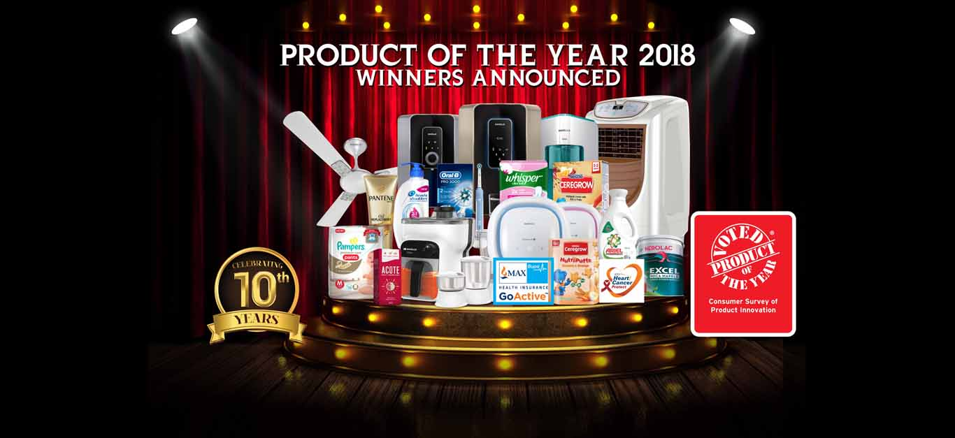 Product of the Year Winning Products Slider 2018